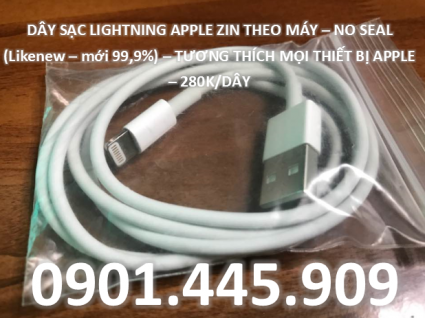 cáp sạc lightning no seal